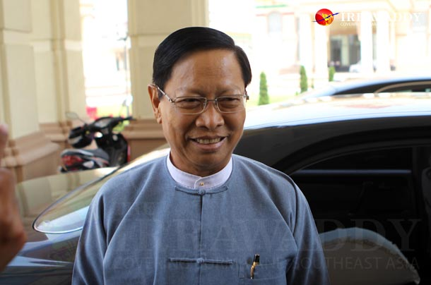 Thura Aung Ko (Religious Affairs and Culture Minister(Photo: Myo Min Soe /The Irrawaddy)