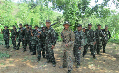 Soldiers from the Arakan Liberation Army are pictured in Arakan State. (Photo: ALP Community / Facebook)