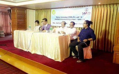 A panel at an interfaith forum in Rangoon. (Photo: Shine Win / Facebook)