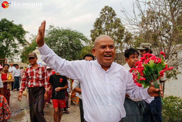 Zaw Win, a lawyer and land-rights activist, was released from Mandalay's Oh-bo Prison on Thursday. (Photo: Zaw Zaw / The Irrawaddy)