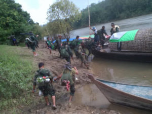 Karen Troops Fight Alongside Arakan Army