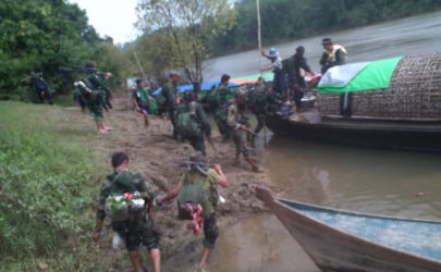 Karen freedom fighters travel to fight alongside the Arakan Army. (Photo: Saw San Aung/Facebook)