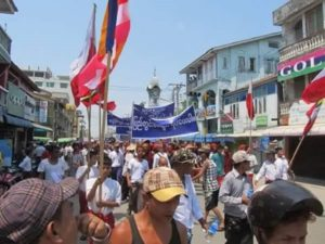 Protesters Push for Peace in Arakan, While Lawmakers Bicker in Rangoon