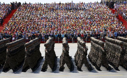 Soldiers of China's People's Liberation Army (PLA) march during the military parade to mark the 70th anniversary of the end of World War II, in Beijing on Sept. 3, 2015. (Photo: Reuters)