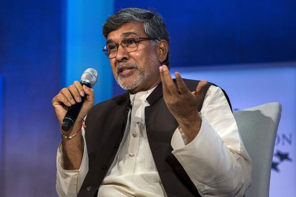 Kailash Satyarthi, 2014 Nobel Peace Prize laureate, takes part in a panel during the Clinton Global Initiative's annual meeting in New York on Sept. 27, 2015. (Photo: Reuters)
