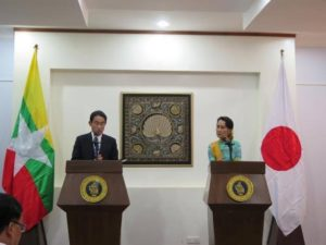 Japan Promises Full Backing of Development Efforts in Burma