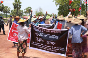 Farmers Protest Resumption of Letpadaung Copper Mining