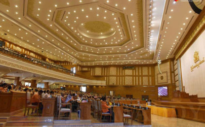 A view of the Union Parliament in Naypyidaw during its opening session on Feb. 8, 2016. (Photo: The Irrawaddy)