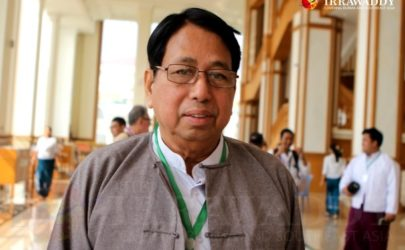 Pe Myint, Burma's information minister, at the parliamentary complex in Naypyidaw in March. (Photo: Myo Min Soe / The Irrawaddy)