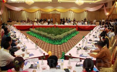 UPDJC meeting in Naypyidaw last week. (Photo: Thiha Lwin / The Irrawaddy)
