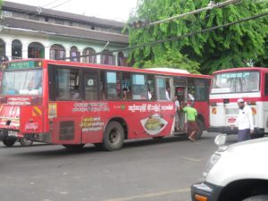 Rangoon Bus Lines to Be Dramatically Reduced