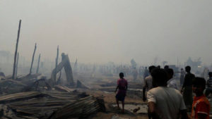 Fire at Arakan State IDP Camp Leaves Hundreds Homeless