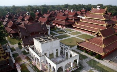 An aerial view of the Mya Nan San Kyaw Palace in Mandalay. (Photo: The Irrawaddy)