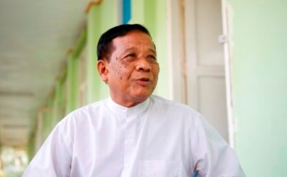 Mandalay Chief Minister Zaw Myint Maung speaks in Naypyidaw. (Photo: Myo Min Soe / The Irrawaddy)
