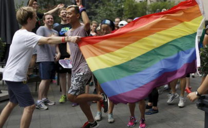 Participants take part in a Pride Run, an event of the ShanghaiPRIDE LGBT (lesbian, gay, bisexual and transgendered) celebration in Shanghai, June 13, 2015. (Photo: Aly Song / Reuters)