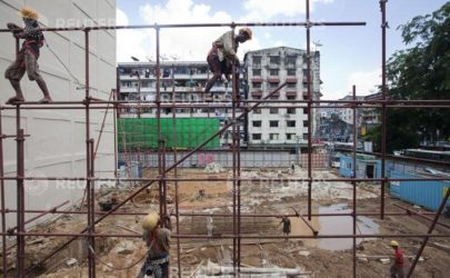 One of many construction sites that have sprung up in Rangoon in recent years, seen on October 31, 2013. (Photo: Reuters)