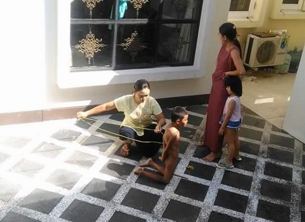 This photo of an eight-year-old housemaid in Rangoon's Bahan Township being tortured by her employers went viral on Facebook in 2015.