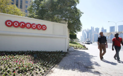 The logo of telecommunications firm Ooredoo is seen at the company's head office in Doha, Qatar. (Photo: Reuters)