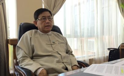 Deputy Minister Maung Maung Win pictured during an interview with The Irrawaddy on Wednesday, July 27, 2016. (Photo: Kyaw Hsu Mon / The Irrawaddy)