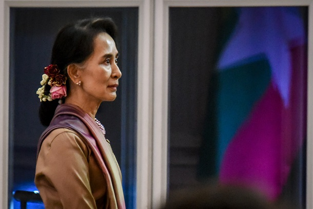 Burma's State Counselor Aung San Suu Kyi in Bangkok during her visit to Thailand in June, 2016. (Photo: JPaing / The Irrawaddy)