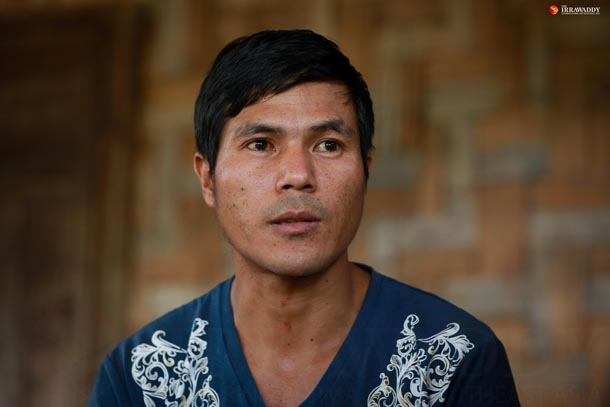 Dau Lum, husband of Roi Ja, pictured on July 28, 2016. (Photo: Hein Htet / The Irrawaddy)