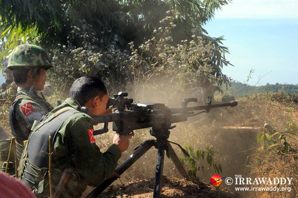 KIA soldiers on the front line in 2012. (Photo: The Irrawaddy)
