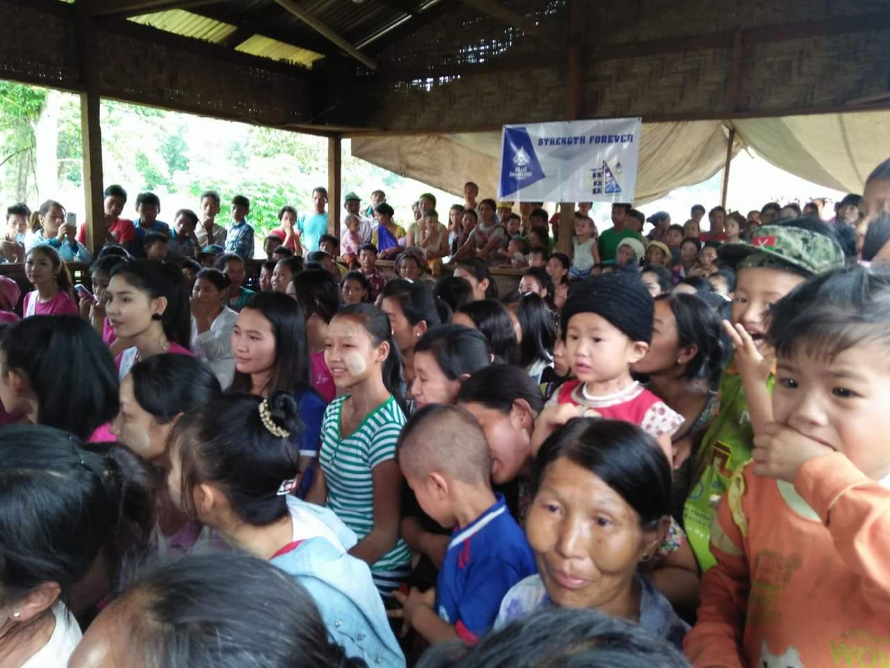 Kachin internal displaced persons in Lung Tsut camp of Putao Township. (Photo: Maran Gam)