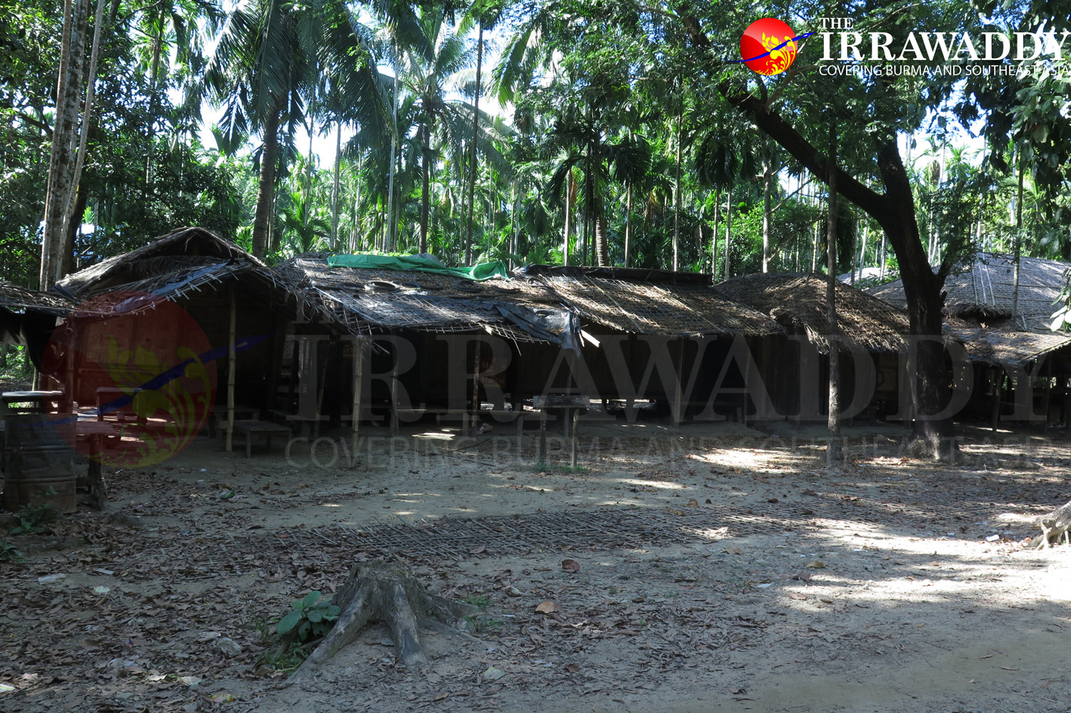 Closed shops in Maung Hna Ma, a Muslim village in Maungdaw. (Photo: Moe Myint / The Irrawaddy)
