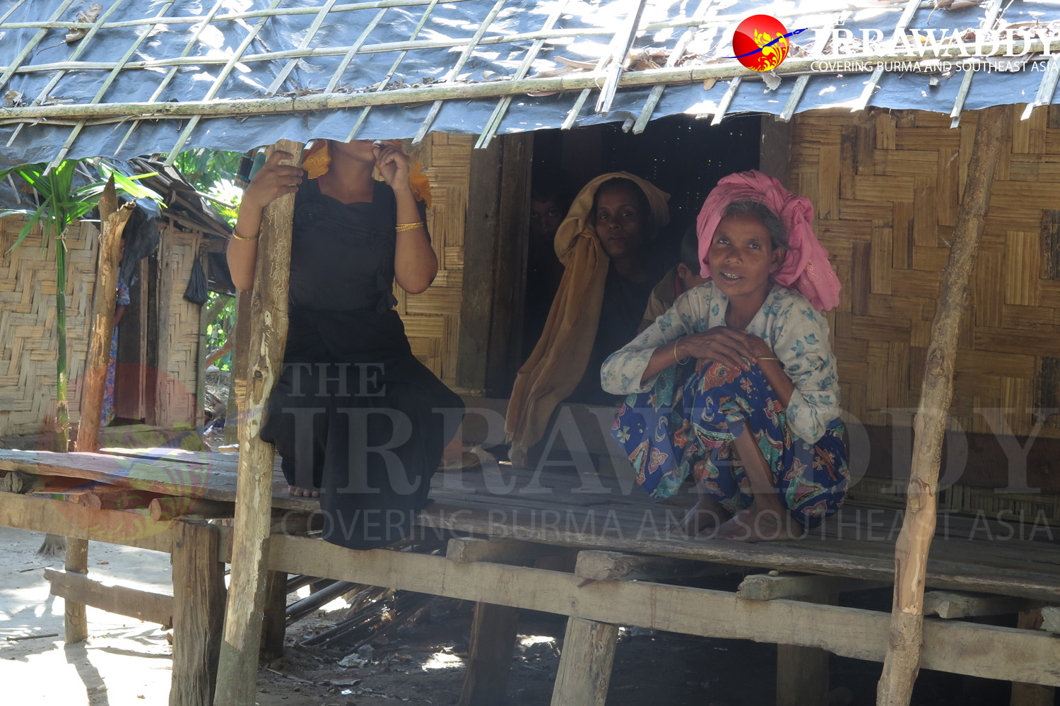 Muslim women in Maung Hna Ma village in Maungdaw. (Photo: Moe Myint / The Irrawaddy)