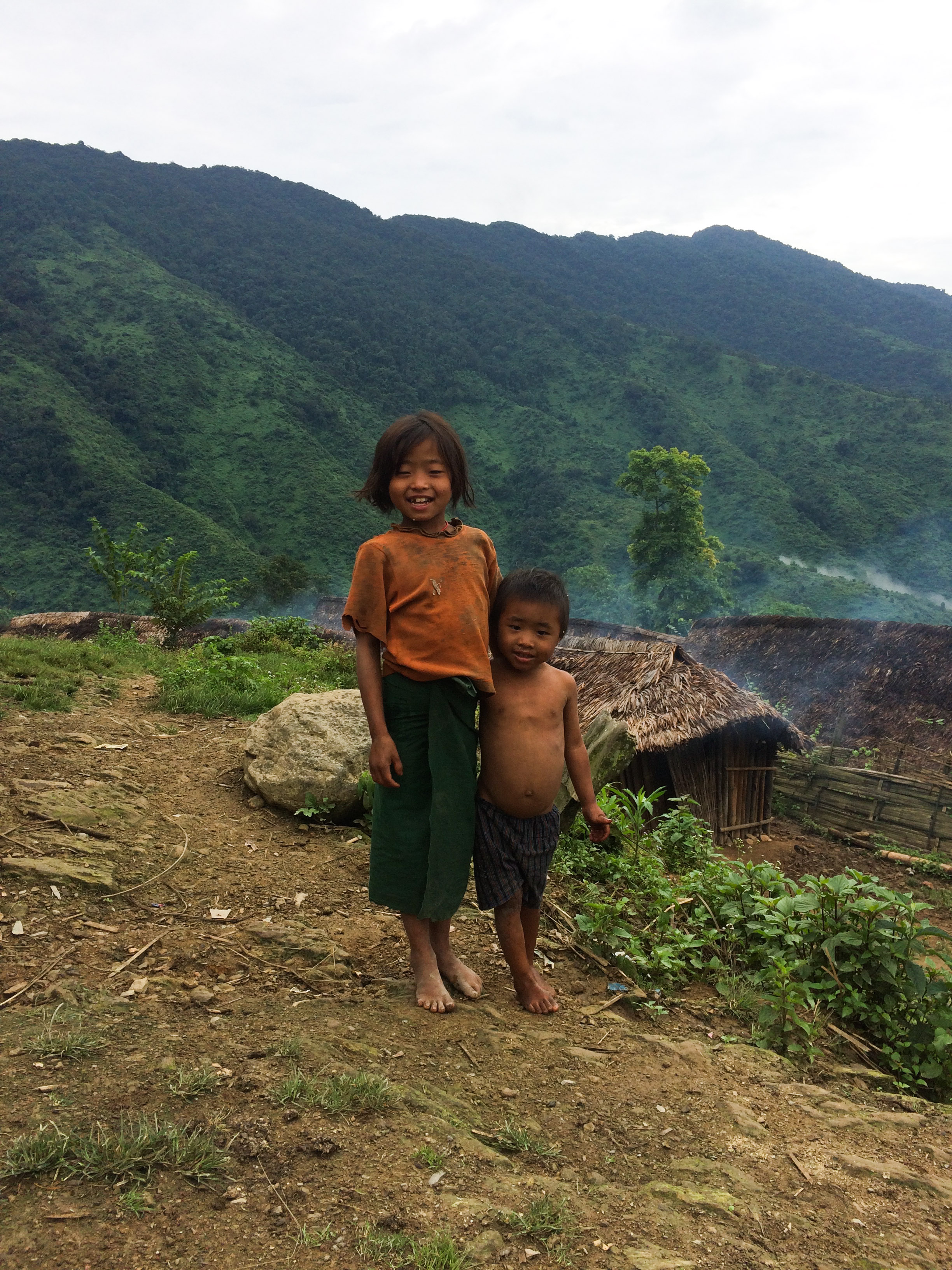 Naga children in Htan Khaw Lama village. (Photo: Nan Tin Htwe)