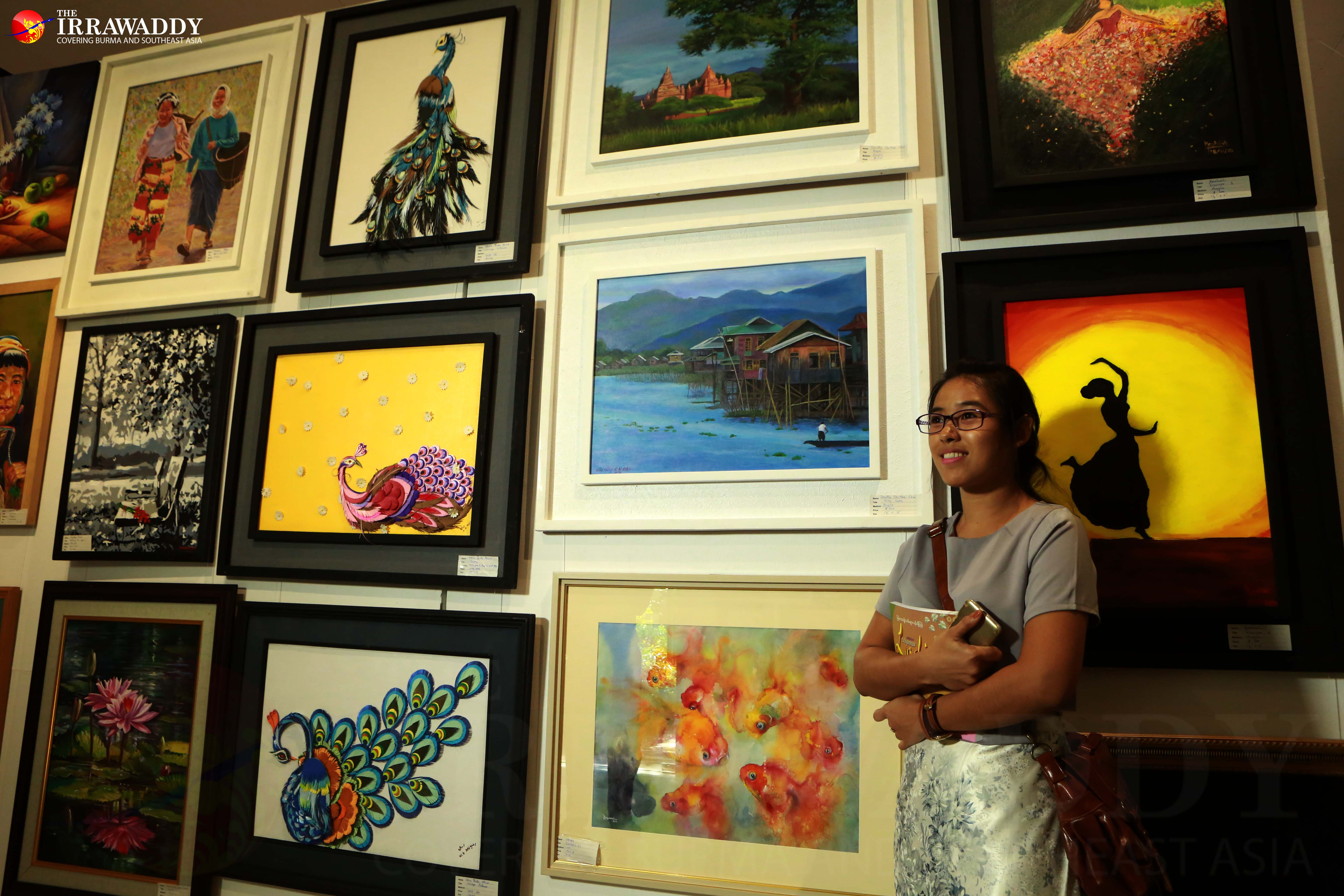 female artists� exhibition opens in rangoon