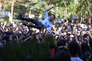 Students at Rangoon University celebrated Thingyan, the…
