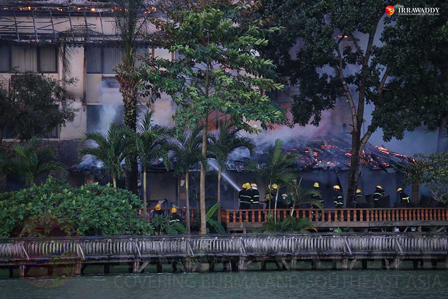 Fire destroys five-star hotel in Yangon; 1 dead