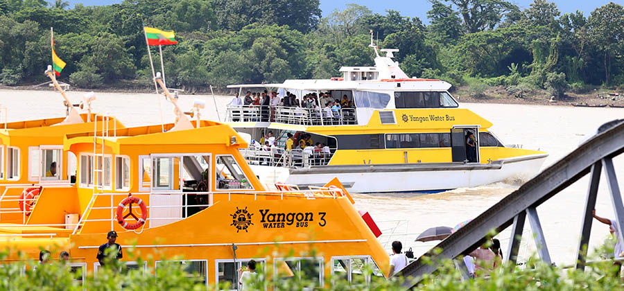 Image result for yangon water bus