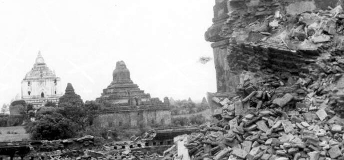 Image result for 1975 Bagan earthquake aftermath photos