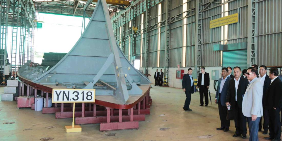 Myanmar Military Chief Visits Thai Military's Major Shipbuilding Supplier - The Irrawaddy News Magazine