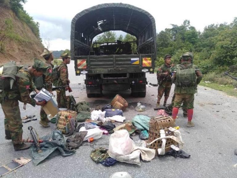 Ta'ang Armed Group Attacks Myanmar Military Convoy in Shan State